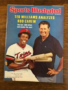 Sports Illustrated  Ted Williams Rod Carew Twins 1977 Grizzly Bear British Open