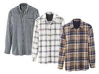 Flannel Shirt 100% Cotton M L XL XXL 39 40 41 42 43 44 45 46 Black White Long Sl