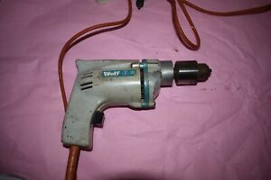 Wolf Sapphire Type 76 240v & 420w Electric Hand Drill With Chuck Key.