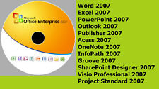 MICROSOFT OFFICE - ALL APPS COMPLETE SET 2007