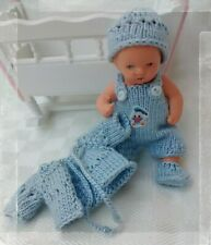 """Puppenkleidung """" Trägerhöschen """" 4 teilig Handarbeit Miniatur Ari Ooak ES 7,5 cm"""