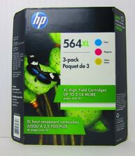 Genuine HP 564XL Cyan Yellow Magenta Color Combo Ink Pack 02/2019 Sealed