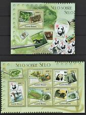 GUINE-BISSAU 2012 SELO SOBRE SELO WWF ANIMALS BIRDS REPTILE POSTAGE STAMPS MNH