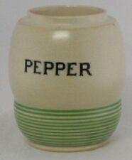 Vintage TG Green Streamline Pepper Jar without Lid by Kleenware Sadler