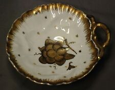Limoges Candy Dish Vintage Gold and White