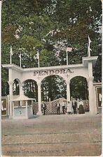 Entrance to Pendora Park Reading PA Postcard Amusement Park