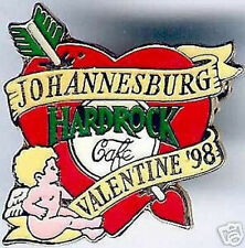 Hard Rock Cafe JOHANNESBURG 1998 Valentine's Day PIN Cupid Heart Catalog #14632