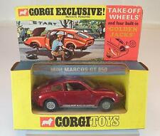 Corgi Toys 341 Mini Marcos GT 850 rot mit Take off Wheels in OVP #5394