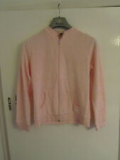 Vintage 90s Next Pink Towelling Tracksuit Zip Up Top & Bottoms Set in Size 14