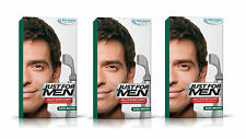 3 JUST FOR MEN AUTOSTOP pronto per l'uso da Uomo Colore dei Capelli Dye Marrone Scuro RESTORER