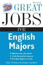 Great Jobs for English Majors, 3rd ed. (Great Jobs For... Series) - Good - DeGal