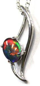 Opal Jewellery Opal Pendant Opal Jewellery Solid Sterling Silver Stamped 925
