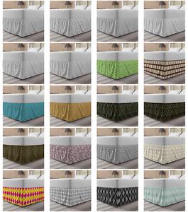Ambesonne Abstarct Waves Bedskirt Elastic Wrap Around Skirt Gathered Design