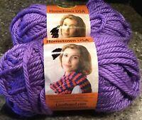 2 Skeins ~ New Lion Brand Yarn 135-147 Hometown Yarn ~ Minneapolis Purple