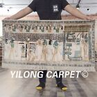 YILONG 2'x4' Handmade Pure Silk Rug Oriental Egyptian Tapestry L111A
