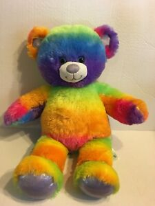 "Build A Bear Rainbow Bear 18"" Plush Stuffed Animal"