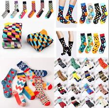 Fashion Mens Cotton Happy Socks Warm Colorful Diamond Casual Dress Socks  AU