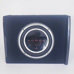 """Rockford Fosgate P1 Punch 10"""" Subwoofer in Q Logic Box (Box has some damage)"""