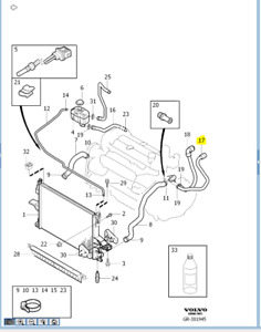 Genuine Volvo Heater Inlet Hose XC90 30745315 2003 - 2006
