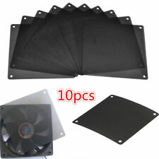 10PCS Cuttable PVC PC Fan Dust Filter Dustproof Case Computer Mesh 120mm Black