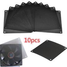 10PCS Cuttable PVC PC Fan Dust Filter Dustproof Case Computer Mesh 120mm Black