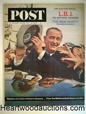Saturday Evening Post Oct 31, 1964 Lyndon B. Johnson photo cover and story