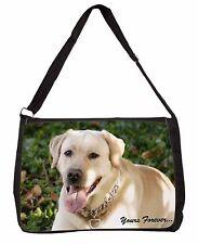 Yellow Labrador 'Yours Forever' Large Black Laptop Shoulder Bag Schoo, AD-L48ySB