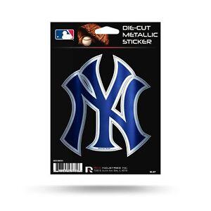"""Rico Industries, Inc. New York Yankees Rico 5"""" METALLIC DECAL Die Cut Auto St..."""