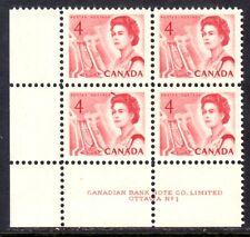 CANADA #457 4c LL PLATE-1 CORNER BLOCK/4, 1967 CENTENNIAL, VF, MNH