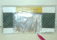 Miniature RED/GREEN German Woven Carpet Runner Kit w/Brass Rods: DOLLHOUSE 1/12