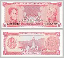 Venezuela 5 Bolivares 1989 p70b unc.