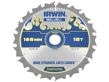 Irwin IRW1897392 165 x 20 mm 18-Dents Weldtec Cordless Lame de scie circulaire avec à