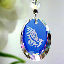 m/w Swarovskl Crystal - Rare Ab Praying Hands Car Charm Suncatcher + Rare Beads