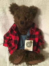 "Boyds Plush 16"" Gary Bearenthal Flannel Bear NWT"