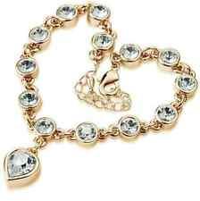 Gala Armband mit Kristallen Bettel Arm Hand Kette Tennis Handschmuck Herz Heart