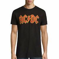 AC/DC Logo Rock Band Short Sleeve Crew Neck T-Shirt New