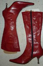 WIE NEU hohe STIEFEL 40cm Größe 36 GRACELAND * Damen Schuhe * ROT * Absatzschuhe