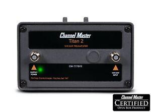 Channel Master Titan 2 Medium Gain Preamplifier Antenna Signal Amplifier 7778V3
