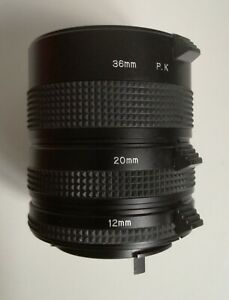35mm PK Camera Macro Extension Tube Set with 3 extension tubes:13mm,21mm,31mm