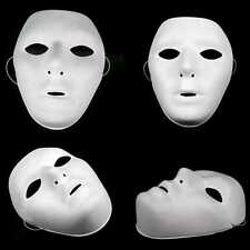 12 X PLAIN WHITE  PLASTIC FACE MASK PAINTABLE HALLOWEEN MICHAEL MYERS QR15