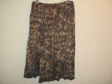 Lafayette 148 New York Sz Small 6 Skirt 100% Silk Brown Abstract Sequin Hem Trim