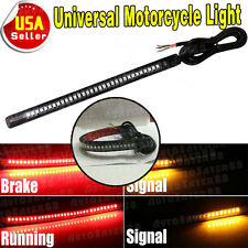 "Universal 8"" Motorcycle 48LED Integrated Brake Stop Turn Signal Tail Light Strip"