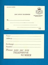 'Post Office Telephones' change of phone number postcard (1960s??)