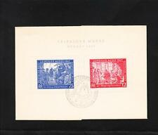 Germany Leipzig Fall Fair Messe 1947 Stamp Pair On Card Stock Souvenir  Z37