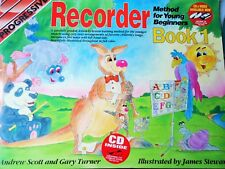 Recorder Method For Young Beginners.Book 1.Illustrated.Step By Step.No Cd
