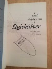 SIGNED - Quicksilver by Neal Stephenson HC UK 1st  Vol. 1 Baroque Cycle + Pic