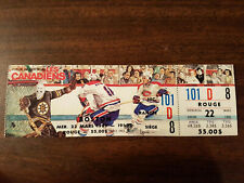 montreal canadiens vs boston bruins full ticket with stub montreal forum 1995