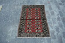 Stunning hand knotted Afghan turkoman rug 100% wool / tribal rug /oriental rug