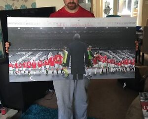 """Manchester United #MUFC the Fergie Years Canvas Print (40""""x20"""") £32"""