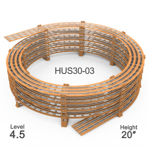 """HUS30-03 Radius 30"""", Height 20"""" Helix For R:28"""" to R:32"""" Tracks (4.5 Levels)"""
